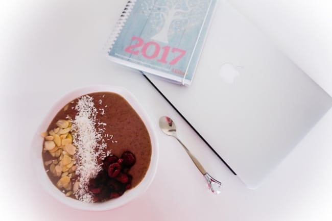 Smoothiebowl med protein – lätt att ta med